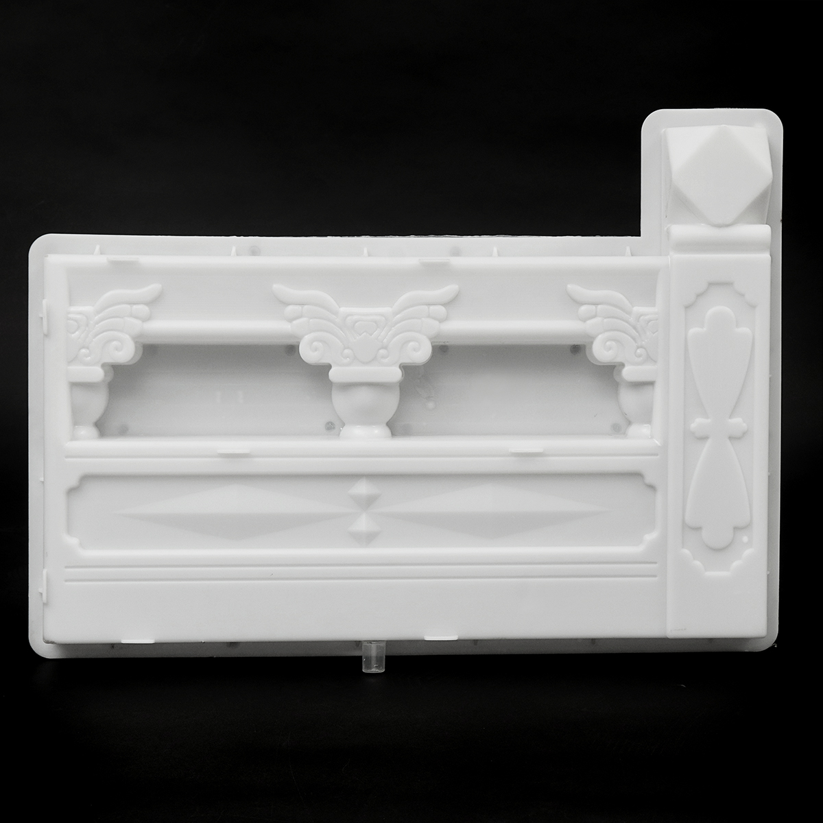 NEW DIY Concrete Mold Fence Plastic Mold Flower Pool Brick Garden Courtyard Hole for Garden Building Supply Paving Mold