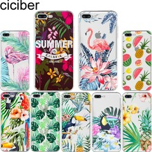 ciciber Summer Fruit Flowers Pineapple Flamingo Toucan Soft Silicon Phone Cases Cover for Iphone 6 6S 7 8 Plus 5S SE X Coque