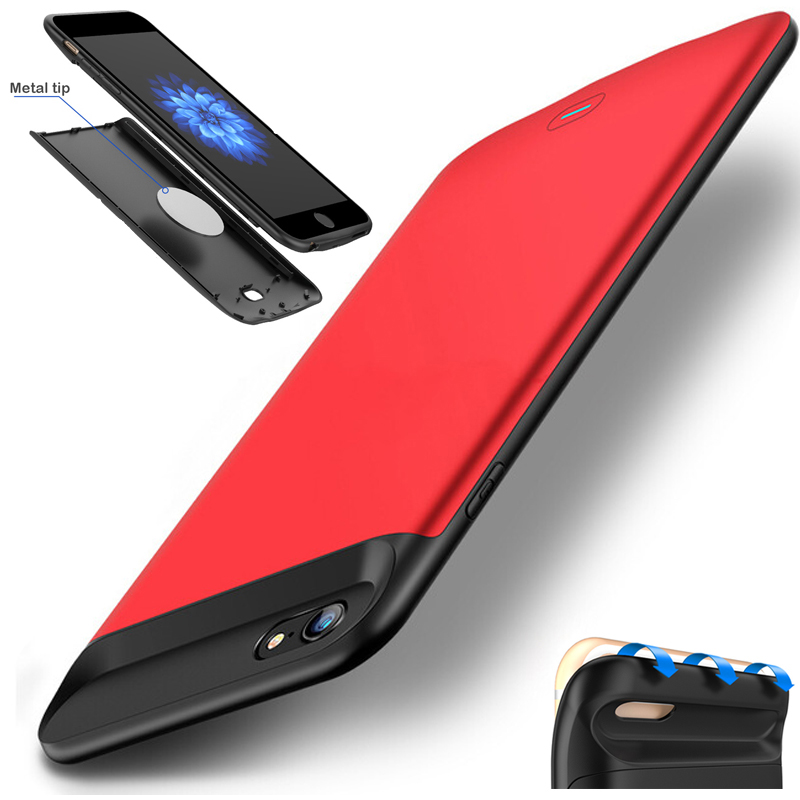 NEWDERY RCN U2 External TPU Bumper Backup Power bank Pack battery Charger Case Cover For iPhone