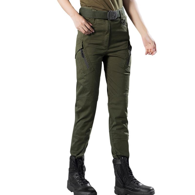 Outdoor Trekking Hiking Pants Women New Climbing Hunting Camping Pants Military Multi-pockets Fashion Slimming Tactical Trousers