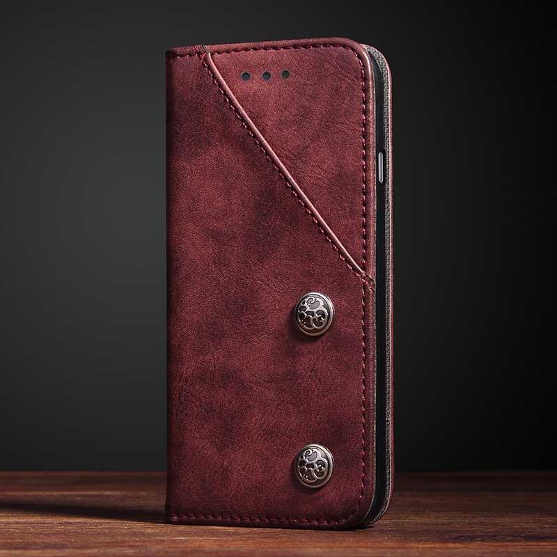 imágenes para Case para Samsung Galaxy S8 S8 Tapa Vendimia Plus Cubierta Del Tirón caso para Samsung S8 Más G9500 G9550 Adsoption Teléfono del Estilo Del Libro Shell