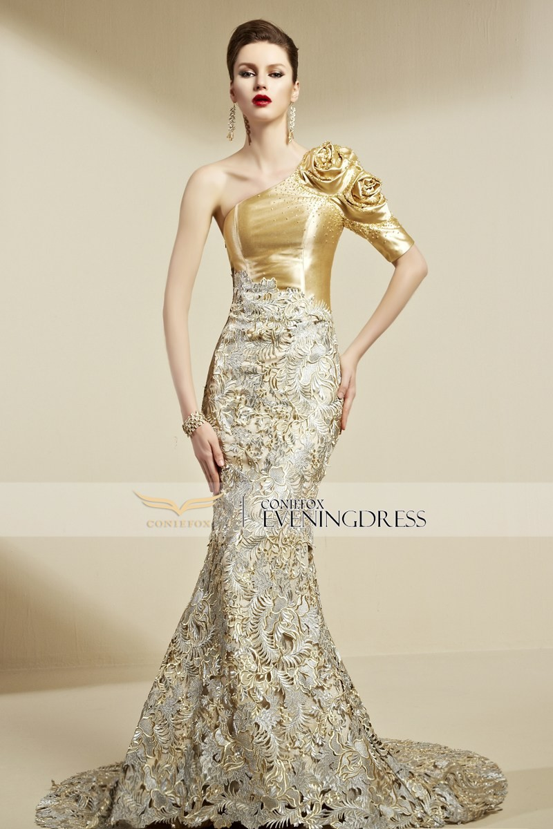 Gold Color Evening Dresses