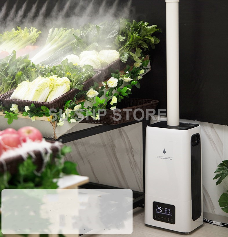 220V Commercial 23L Electric Humidifier Industrial Supermarket Vegetable And Fruit Fresh-keeping High-power Spray Mist Maker