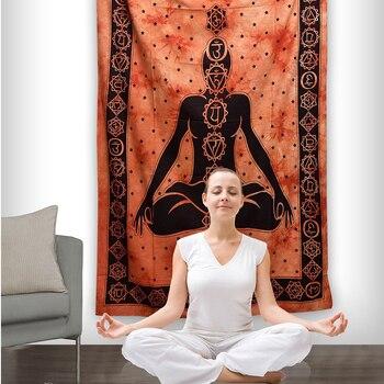 Nuevo Buda hangping yoga fondo decorativo tapiz indio estilo mandala Bohemia manta de decoración o dormitorio yoga Mat