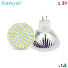 Free Shipping 30 pcs 3528 SMD 60 LED 4W MR16 (12V) Spotlight Bulb Epistar chip Downlight lamp led light LED Droplight lighting