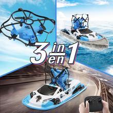 LeadingStar gw123 Радиоуправляемый мини-Дрон, лодка, автомобиль трифибиан, вертолет, Дрон, Квадрокоптер, радиоуправляемые игрушки для мальчиков и девочек, нано-Дрон