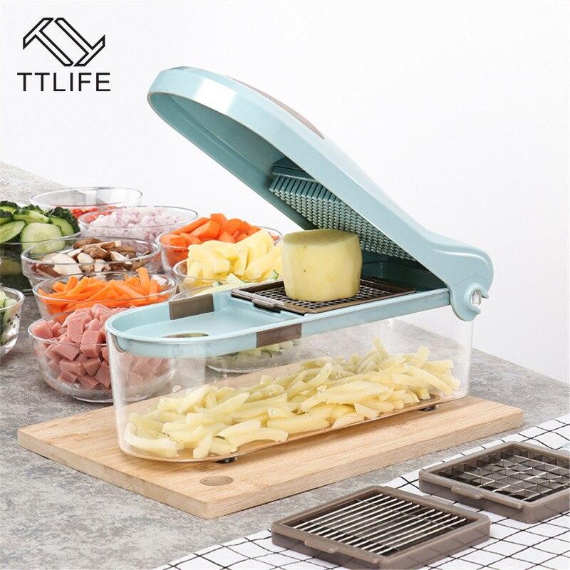 Placa de Pressão Manual Do Multifuncional vegetal Cortador Dicing TTLIFE Protecção Do Ambiente Saudável e aparelhos de cozinha slicer