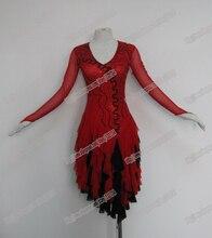 New competitive latin dress, crystal stones chacha,salsa dance,ballroom dress, RED LATIN DRESS, DANCER COSTUMES,TOP SALES