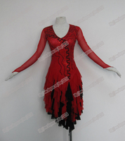 2013 New Competitive Latin Dress Crystal Stones Chacha Salsa Dance Ballroom Dress LD 0013