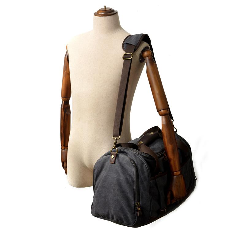 Burminsa Brand Canvas Men Travel Bags Large Cylinder Weekend Duffel ... eaef6619aac9e