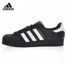 premium selection d42f0 eaf73 Adidas trébol superestrella Etiqueta de oro de la cabeza de los hombres y  mujeres Zapatos negro