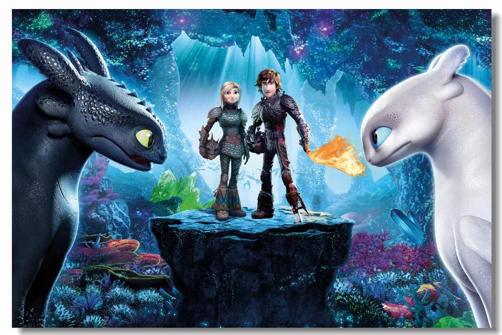 Custom Canvas Art How To Train Your Dragon Poster Night Fury