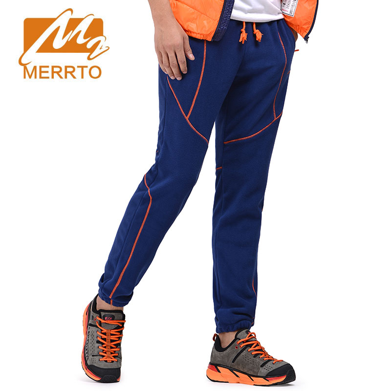 2017 MERRTO New Outdoor Pants Male Thick Fleece Warm Jacket Pants Neck Climbing Sports Trousers Mens Hiking Trousers rax 2015 thermal fleece hiking pants for men women winter outdoor sports warm fleece trousers fleece camping pants 54 4f089