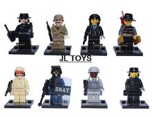 SY168 Military series bricks SWAT Counter Strike Specia Force minifigures building block compatible with legos 8pcs/lot for boys