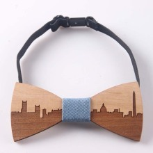 Wooden Elegant Bow Tie Washington