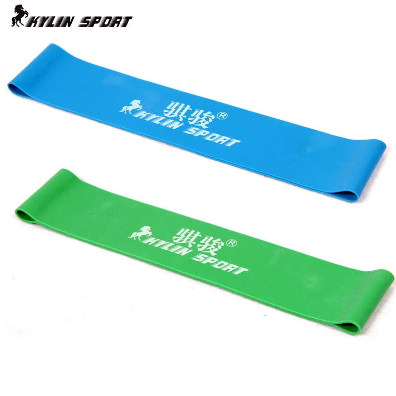 Green and blue combination latex resistance bands workout excercise pilates yoga bands loop wrist ankle elastic belt