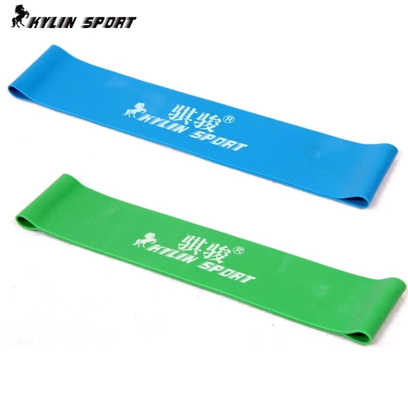 Grøn og blå kombination latex modstand bands træning øvelse pilates yoga bands loop armbånd ankel elastisk bælte