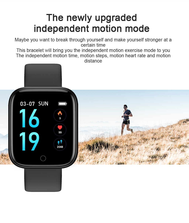 Reloj inteligente impermeable T80 Bluetooth 6