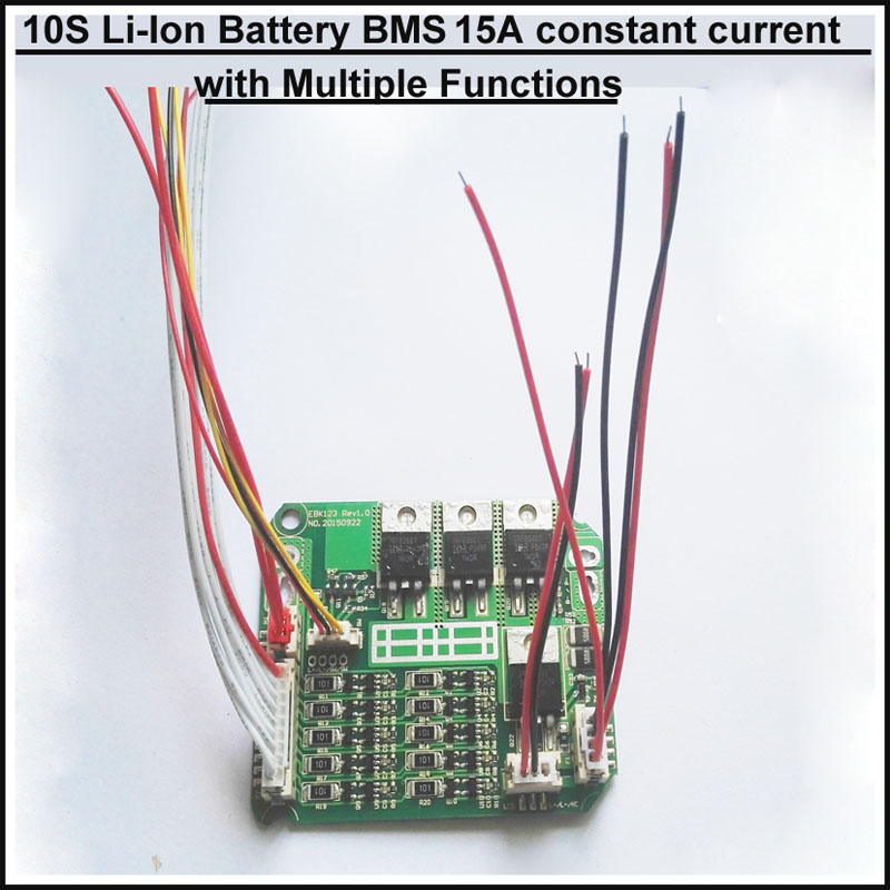 36V 10S li ion battery BMS 42V Bike Battery PCB with weak ...