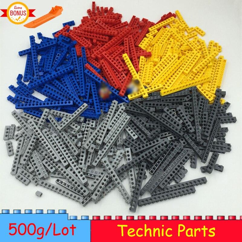 500g Technic Building Blocks Parts Thick Bricks MOC 10 Size 5 Colors Mix Combination DIY Toys Compatible Legoed Technic Blocks