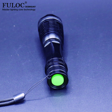 LED flashlight torch e17 CREE XM-L T6 4000 Lumens High Power Focus lamp Zoomable light with on