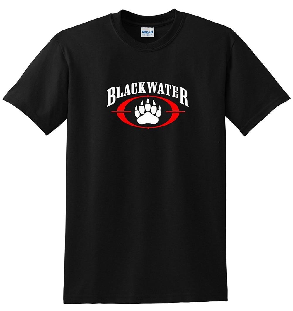 Black t shirt security - 2017 Cotton Men T Shirt Casual Man Tees Mens Tops Blackwater Security T Shirt