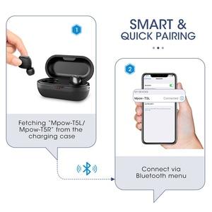 Image 5 - Mpow T5/M5 M משלוח Aptx TWS אוזניות Bluetooth 5.0 IPX7 עמיד למים ספורט אוזניות עם 5H לשחק זמן עבור Iphone X Huawei P20 לייט