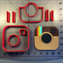 Custom Made 3D Printed Instagram Logo Cookie Cutter Set Fondant Cupcake Molds Cake Decoration Tools Biscuit