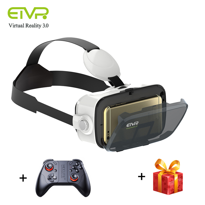 ETVR Z4 Mini Virtual Reality 3D Glasses Google Cardboard Immersive Goggles Helmet VR Box Helmet For 4.5-6.2 Inch Smartphone PC