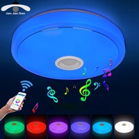 JJD Modern RGB Ceiling Light LED Lamp Panel Round Hall Surface Mount Flush Remote Control Living