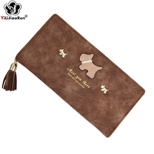 Cute Wallet Card Holder Purse Fashion Tassel Womens Wallets and Purses Brand Leather Wallet Hasp Zipper Money Bag Coin Pocket