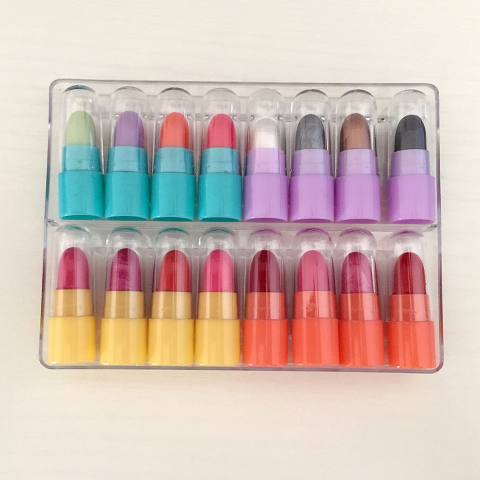Online eye color changer - Makeup Kit 4 Color Change Lipstick 4 Color Eye Shadow 8 Color Lipstick 3in1
