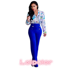 Casual fashion 2018 button high waist wide leg pants women solid color oversized loose palazzo trousers flare D43-AB-06