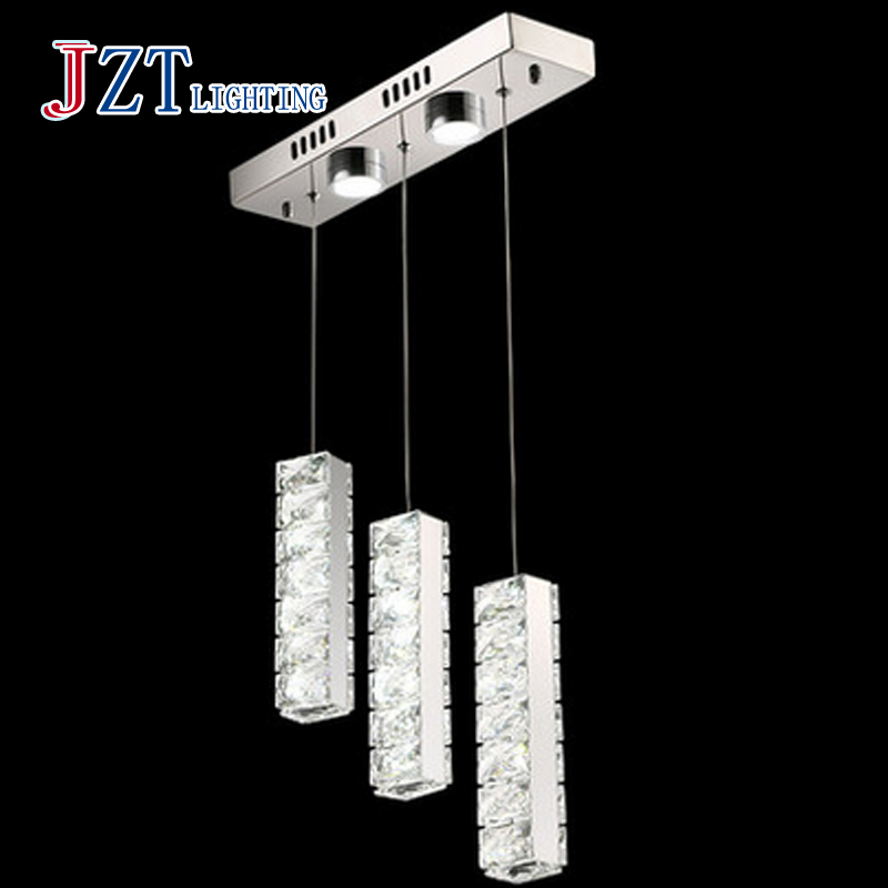 T 2016 New Simple Strip Crystal Pendant Light 3 Heads Modern Northern Europe Creative Lamps For Bar Restaurant Fashion DHL Free italy fashion pendant light and modern fashion creative restaurant simple energy saving lamps led new custom art