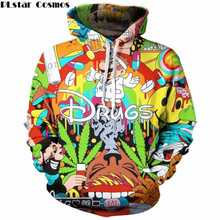 PLstar Cosmos 2017 Autumn new style 3d Hoodies Cartoon Super Mario 3D print Hoodie Sweatshirt funny drugs casual Pullovers