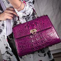 Действительно крокодиловый череп дамская сумочка из натуральной кожи женский портфель с одной лямкой сумка Роскошные сумки женские дизайн