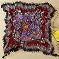 110x110 cm Diamond Scarf Women Cotton Geometric Square Scarves w/ Tassels Foulard Hot 2016