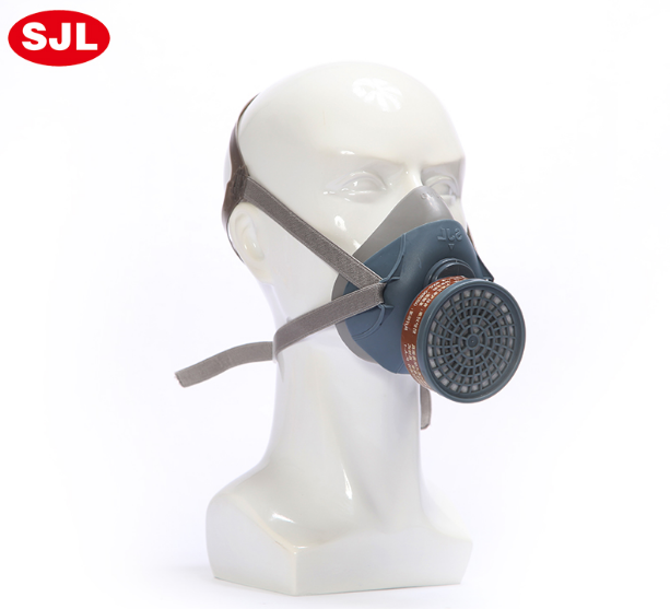 New Industrial Dust Gas Mask Respirator Chemical Gas Filter Half Face Mask For Painting Organic Vapours Work Safety gas mask new industrial safety full face gas mask chemical breathing mask paint dust respirator workplace safety
