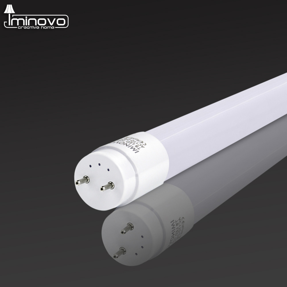 IMINOVO T8 LED Tube Light Lamp 600MM 10W Milky Cover SMD 2835 AC 110V-220V Warm Cool White 360 degree Light Bulb Garage market xunruixing p 005 e27 5w 320lm 8350k 20 smd 2835 led cool white light bulb white ac 220v