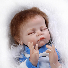 Comfortable Touch 22inch 55cm Silicone-Reborn-Baby-Dolls With Flannelette Coverall Clothes Hot Sell Brinquedos Menina As Gift