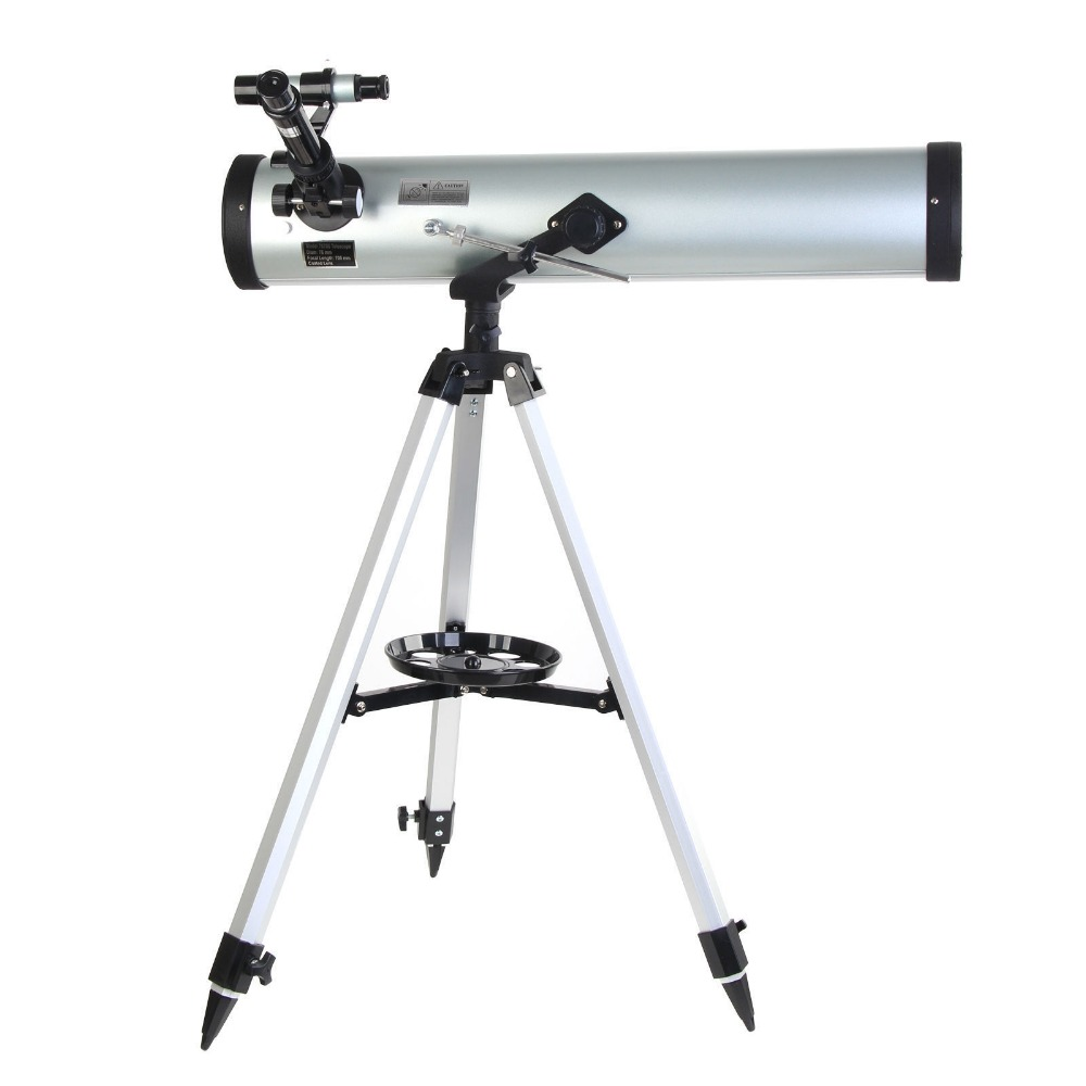 High Quality Large Aperture 350 Times Reflector Newtonian Astronomical Telescope for Space Celestial Heavenly Observation F76700 entry level 3 inches 76 700mm reflector newtonian astronomical telescope black white