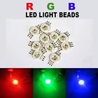 100pcs RGB LED COB Chip High Power LED Bulb Diodes Lamp Red Green Blue Light Beads SMD Round 3W watts DIY