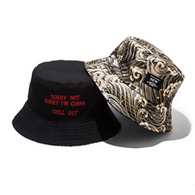 Soft Bucket Hat Man Women Outdoor Sports Hip Hop Cap Embroidery Wave Double Side Summer Cotton Fishing Sun Panama For Hats