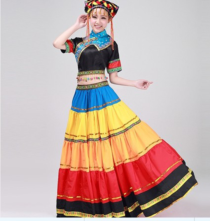Women Girl Plus Size Ancient Traditional Chinese Dance Costumes Miao Dress hmong Miao Clothing Hmong Clothes