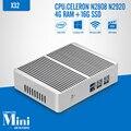 Fanless Computador Tablet Celeron N2920 N2808 DDR3 RAM 4G 16g SSD Laptop PC Mini PC Pode Janelas Disco Rígido Externo 7/8. 1