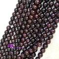 "Desconto Atacado Natural Red Garnet Rodada Pedra Solta Beads 6mm-10mm DIY Jóias Fit Colares ou Pulseiras 15 ""04276"