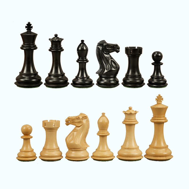 BSTFAMLY wood chess set game, padauk and boxwood chess pieces wood King height 104mm, portable game of international chess, LA20 купить