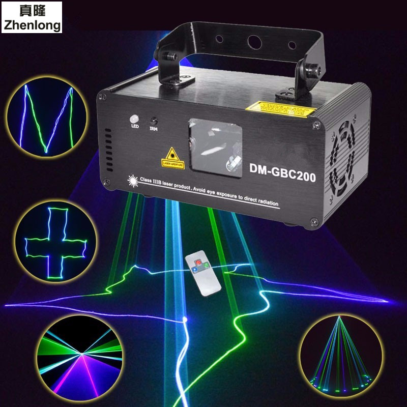 Remote DMX512 200mw GBC Laser Stage Lighting Effect Scanner DJ Disco Projector Light Home Party Wedding Professional Lights disco beam laser light professional remote dmx512 red 200mw stage lighting scanner dj party show xmas light led effect projector