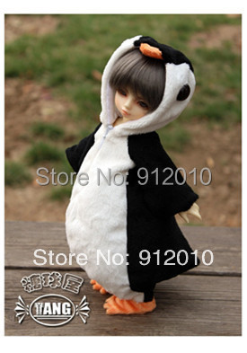 Cute Fat Penguins Animal Clothes for 1/6 YOSD BJD Doll Super Dollfie Luts AS,DZ Doll Clothes AL17 free match stockings for bjd 1 6 1 4 1 3 sd16 dd sd luts dz as dod doll clothes accessories sk1