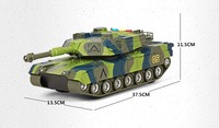 Military Model Popular Toy Vehicles Plastic Camouflage Large Inertia Tanks Light Music Toys For Children Boys Educational Gift